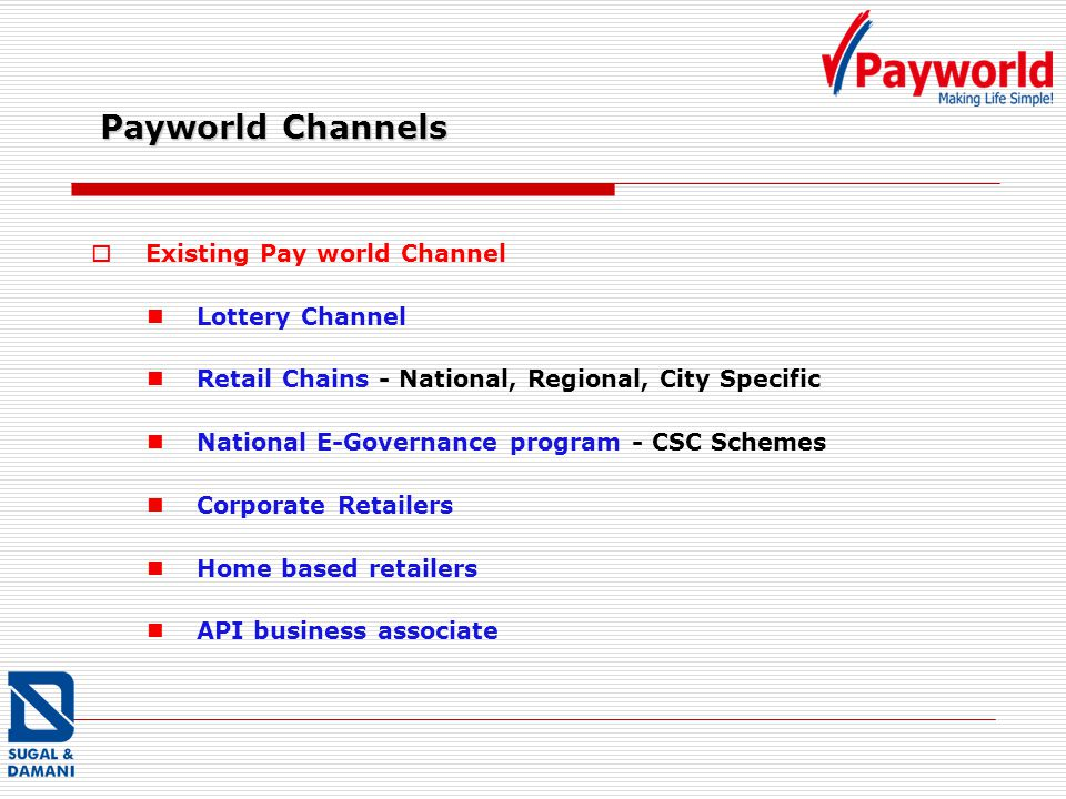 Payworld Channels Existing Pay world Channel Lottery Channel
