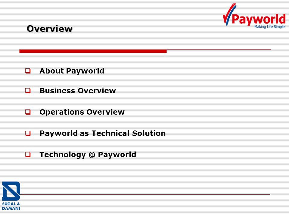 Payworld as Technical Solution Technology @ Payworld