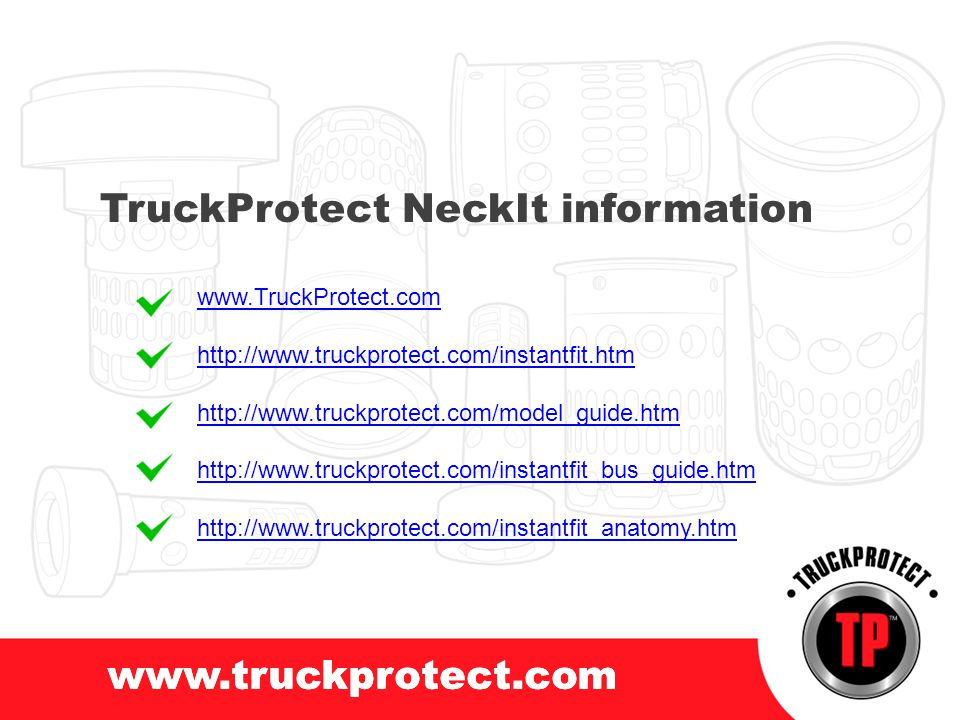 TruckProtect NeckIt information