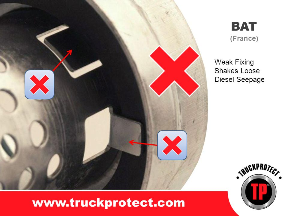 BAT www.truckprotect.com (France) Weak Fixing Shakes Loose