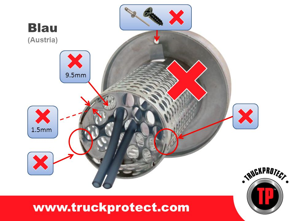 Blau www.truckprotect.com (Austria) 9.5mm 1.5mm