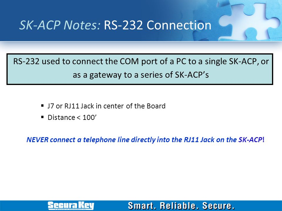 SK-ACP Notes: RS-232 Connection