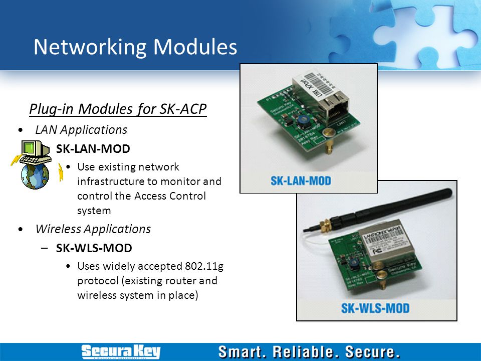 Networking Modules Plug-in Modules for SK-ACP LAN Applications