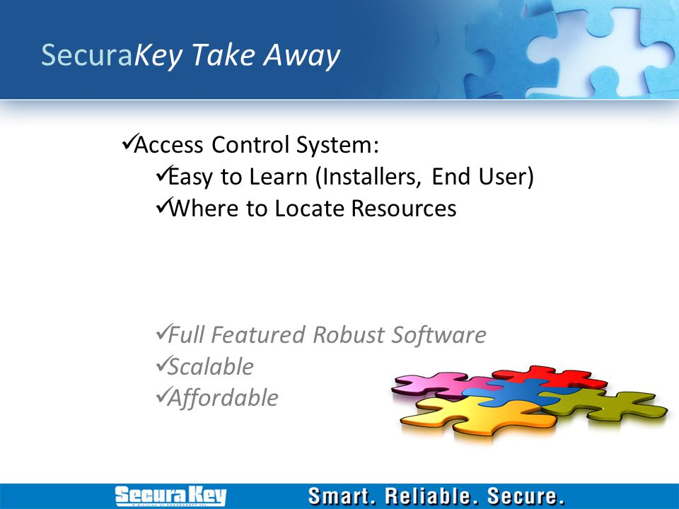 SecuraKey Take Away Access Control System: