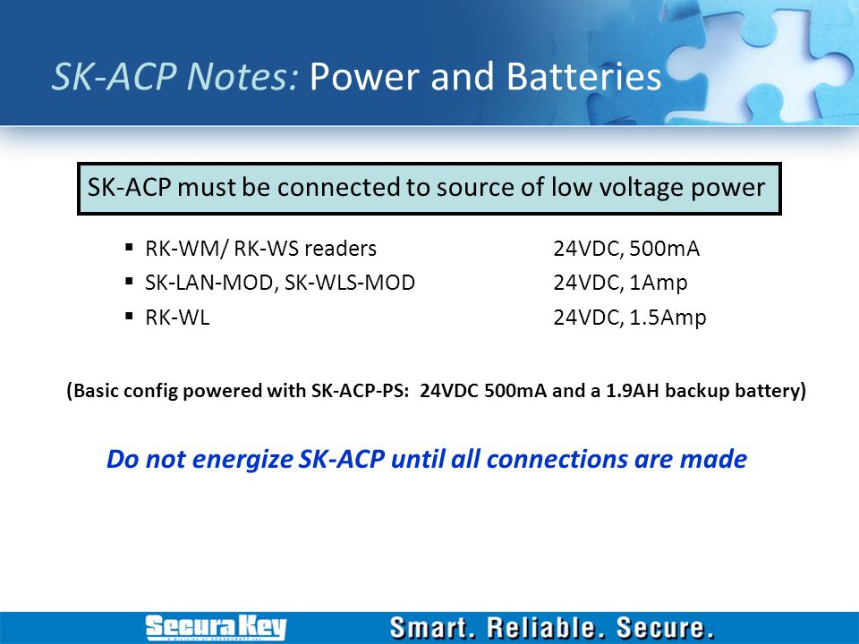 SK-ACP Notes: Power and Batteries
