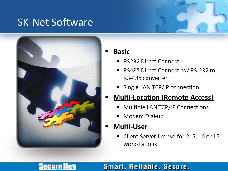 SK-Net Software Basic Multi-Location (Remote Access) Multi-User
