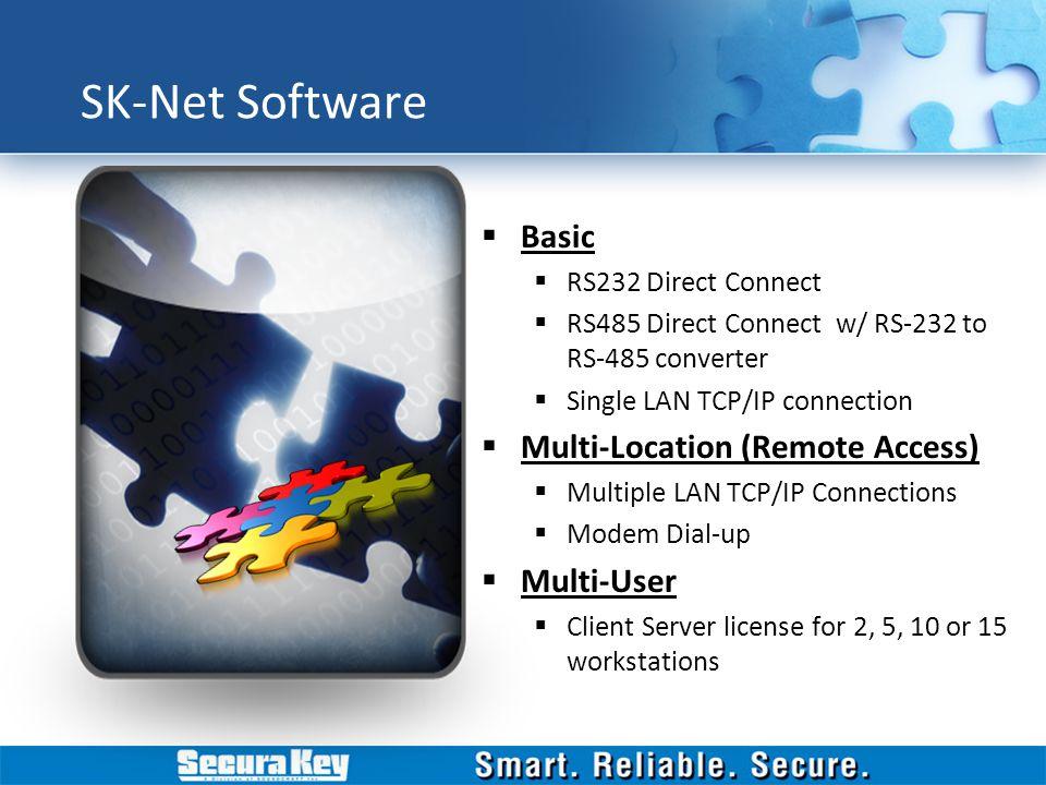 SK-Net Software Basic Multi-Location (Remote Access) Multi-User