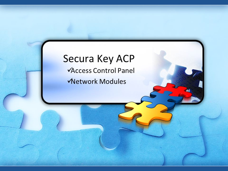 Access Control Panel Network Modules