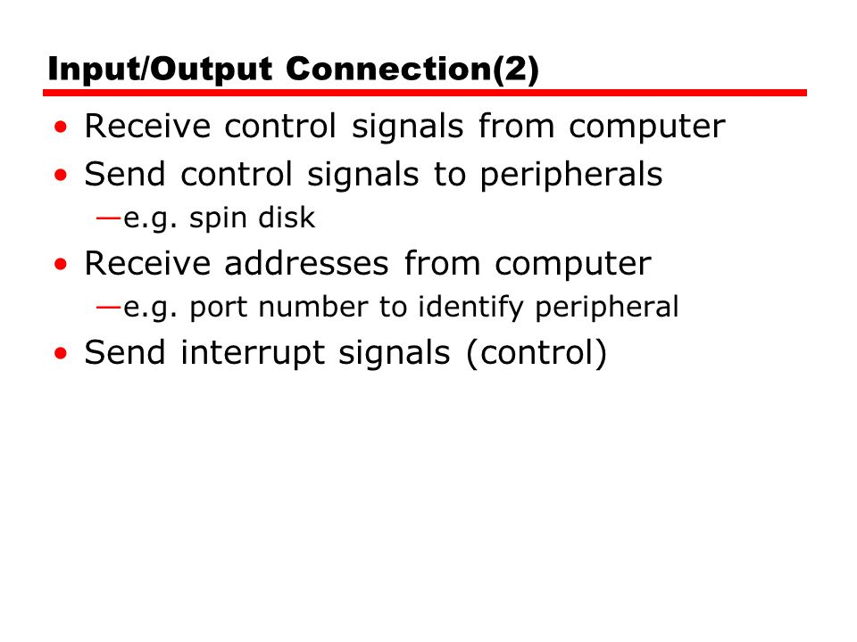 Input/Output Connection(2)