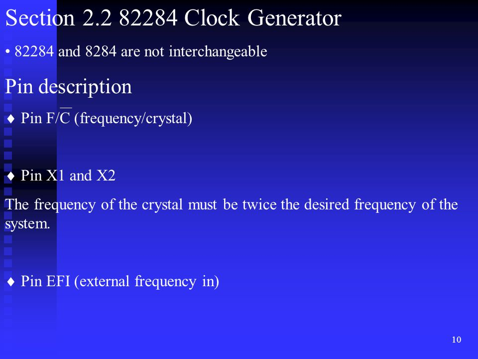 Section 2.2 82284 Clock Generator