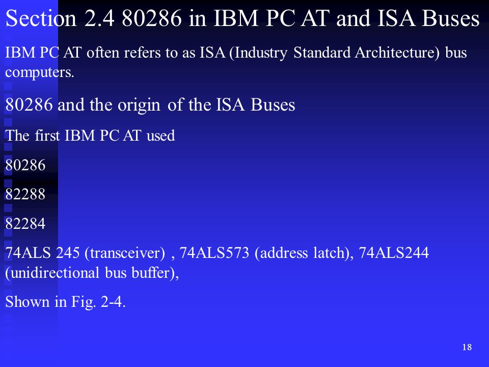 Section 2.4 80286 in IBM PC AT and ISA Buses