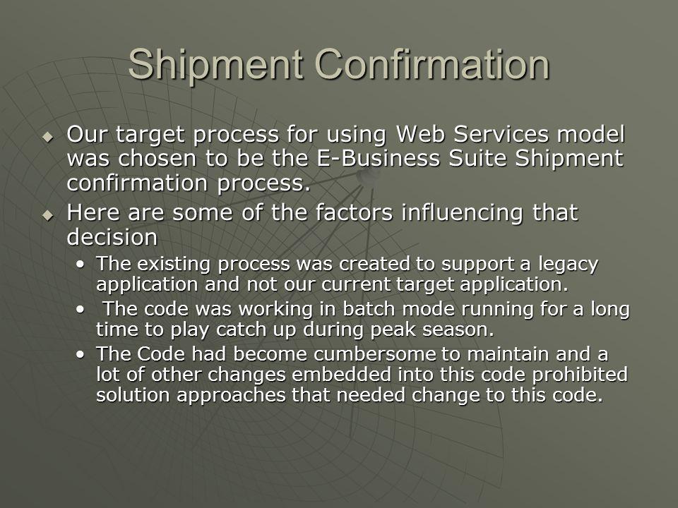 Shipment Confirmation