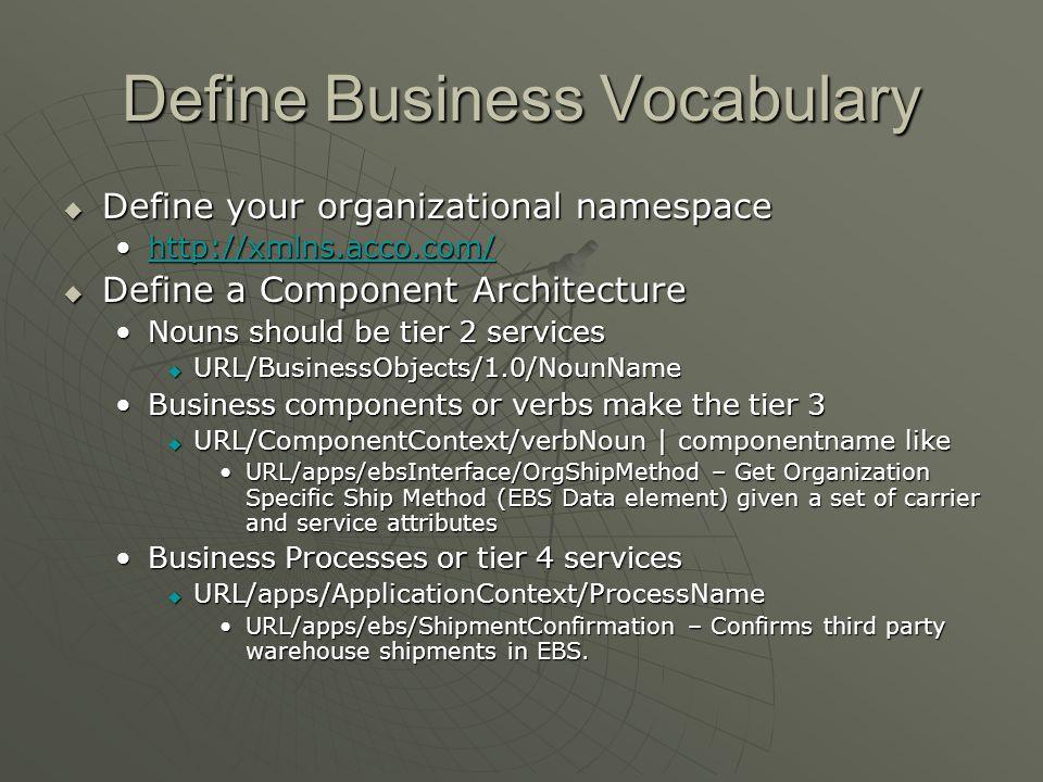 Define Business Vocabulary