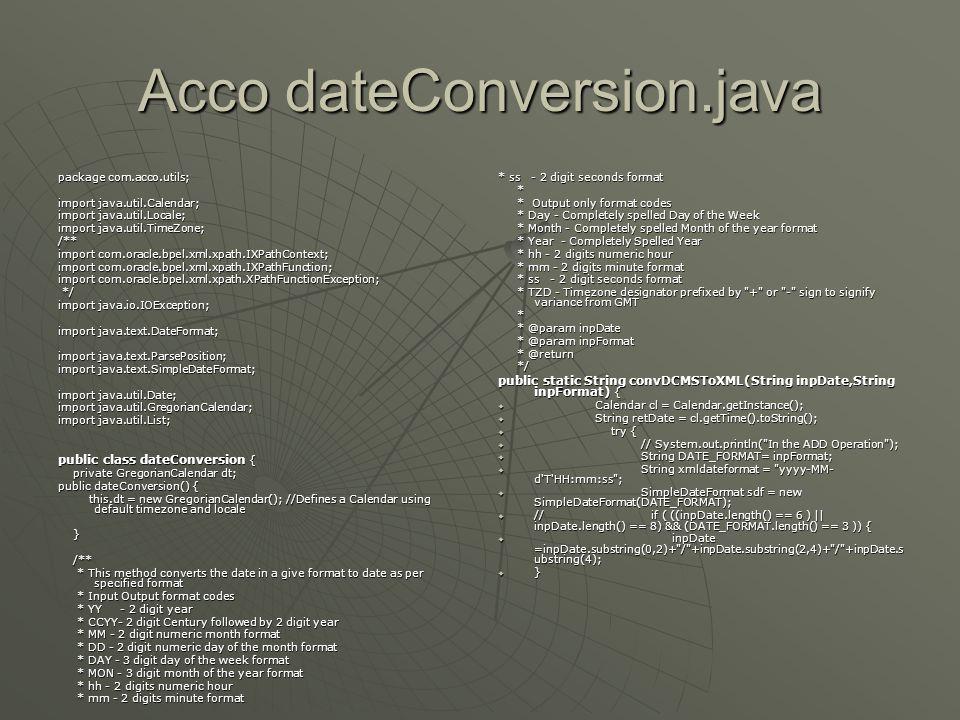 Acco dateConversion.java