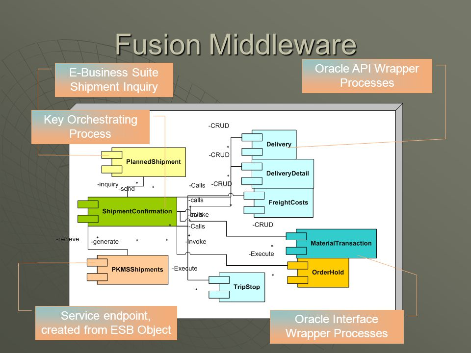 Fusion Middleware Oracle API Wrapper Processes E-Business Suite