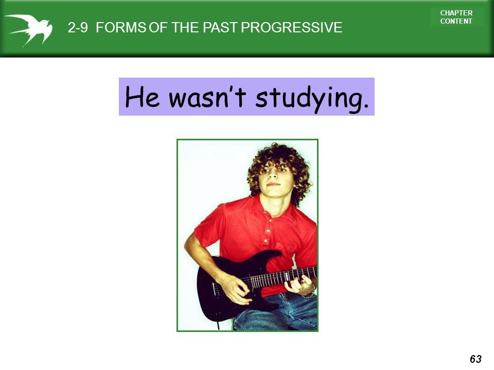 2-9 FORMS OF THE PAST PROGRESSIVE
