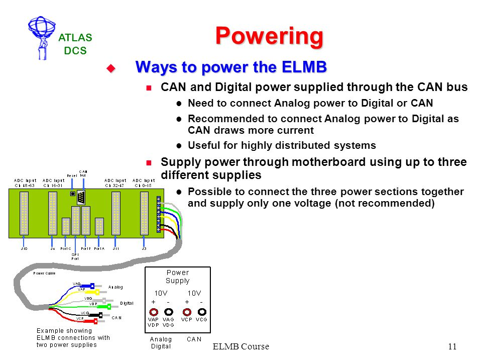 Powering Ways to power the ELMB