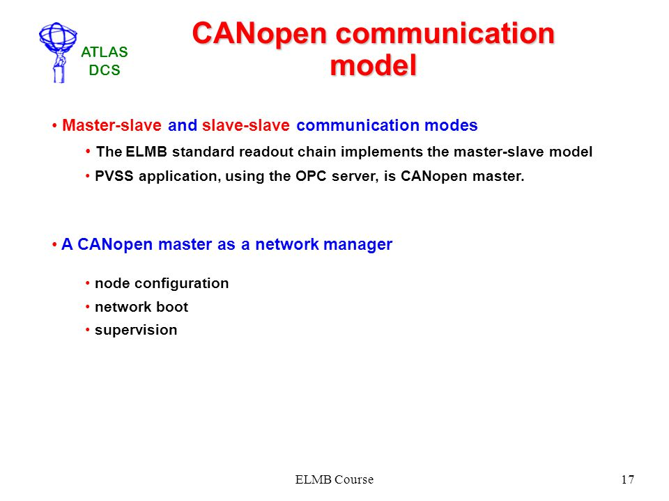 CANopen communication model