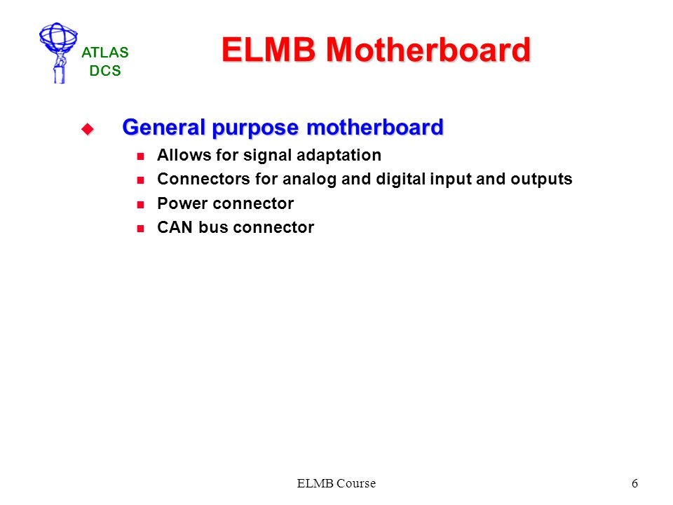 ELMB Motherboard General purpose motherboard