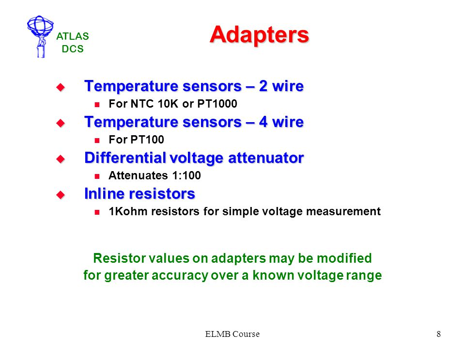 Adapters Temperature sensors – 2 wire Temperature sensors – 4 wire