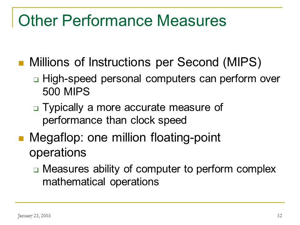 Other Performance Measures