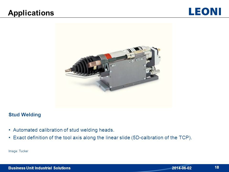 Applications Stud Welding Automated calibration of stud welding heads.