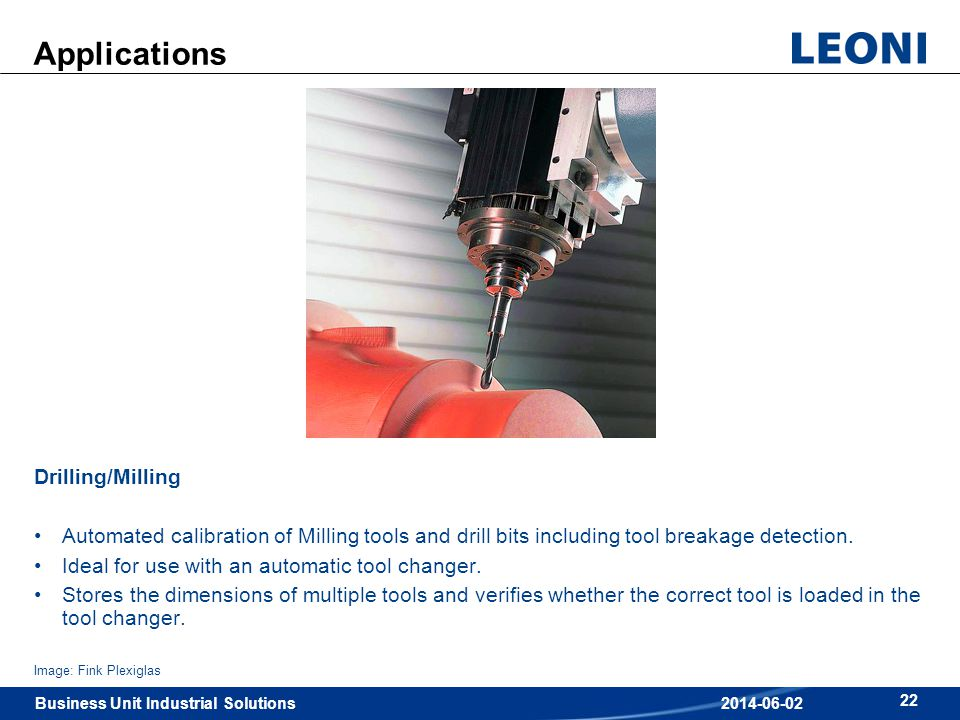Applications Drilling/Milling