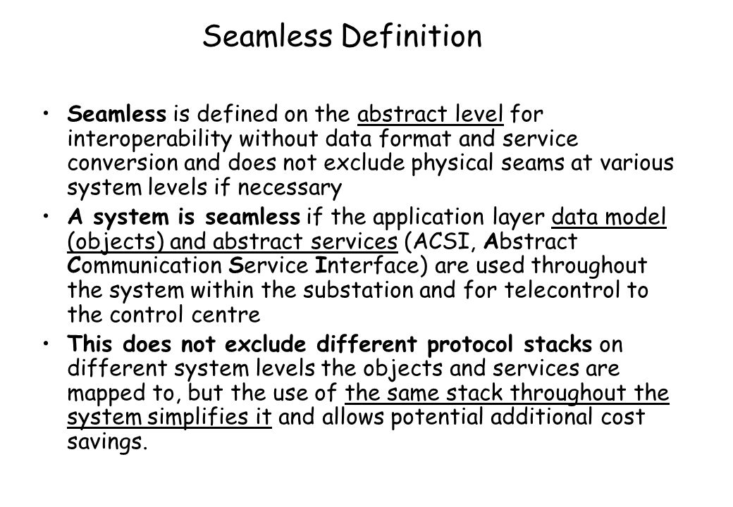 Seamless Definition