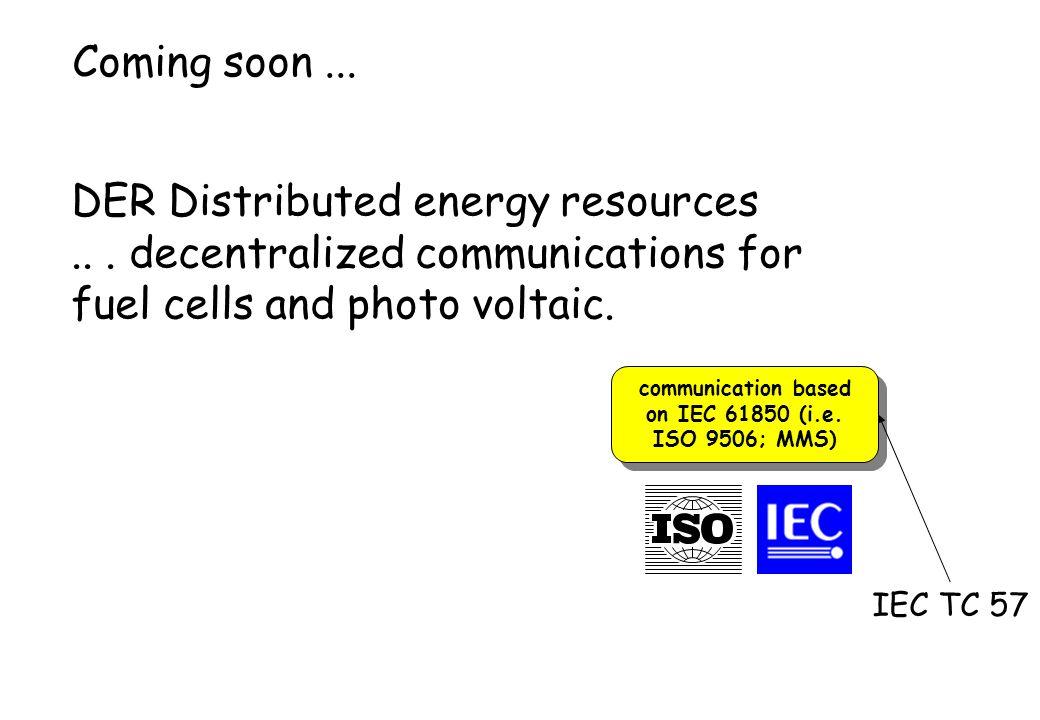 communication based on IEC 61850 (i.e. ISO 9506; MMS)