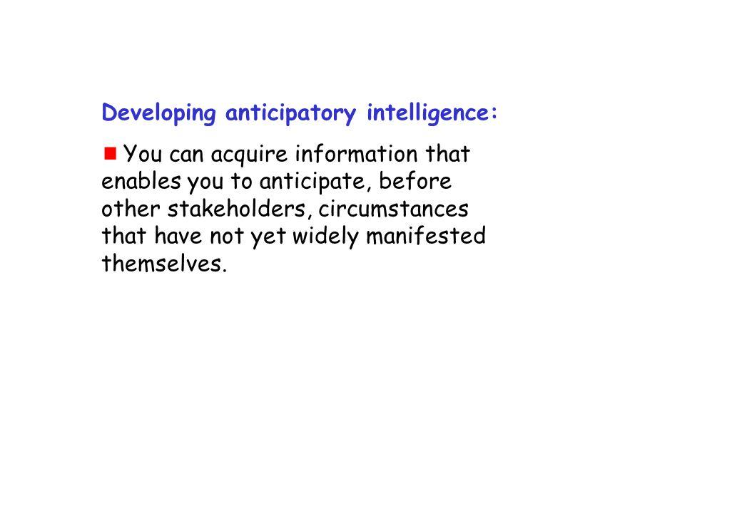 Developing anticipatory intelligence: