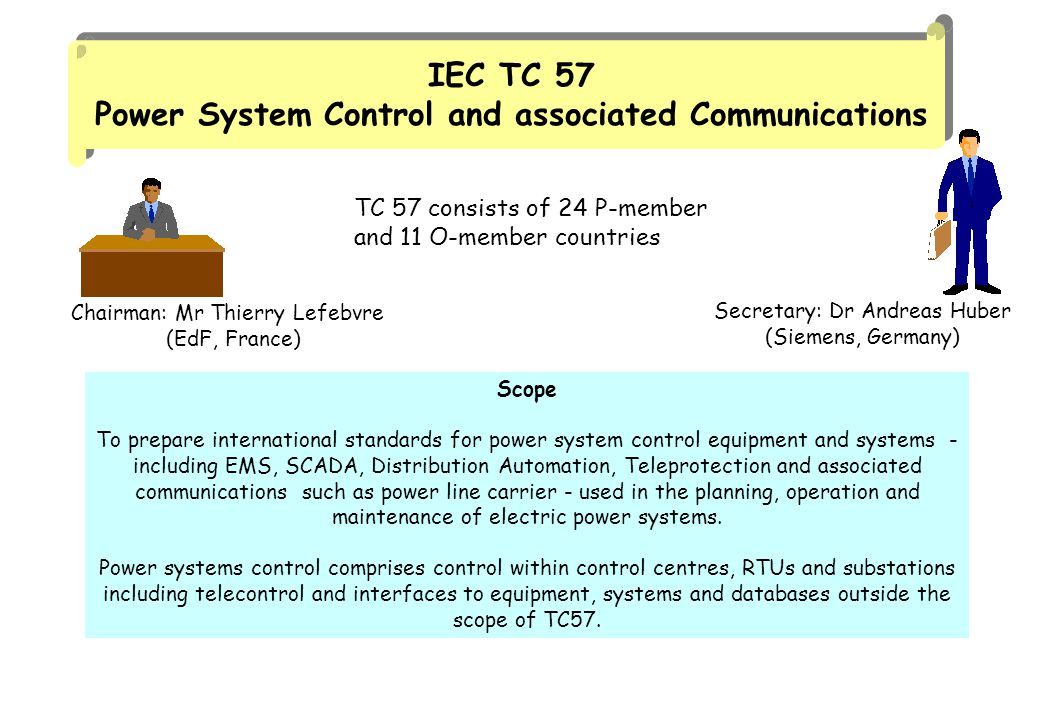 IEC TC 57 Power System Control and associated Communications