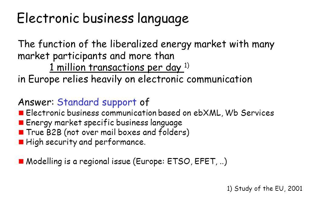 Electronic business language