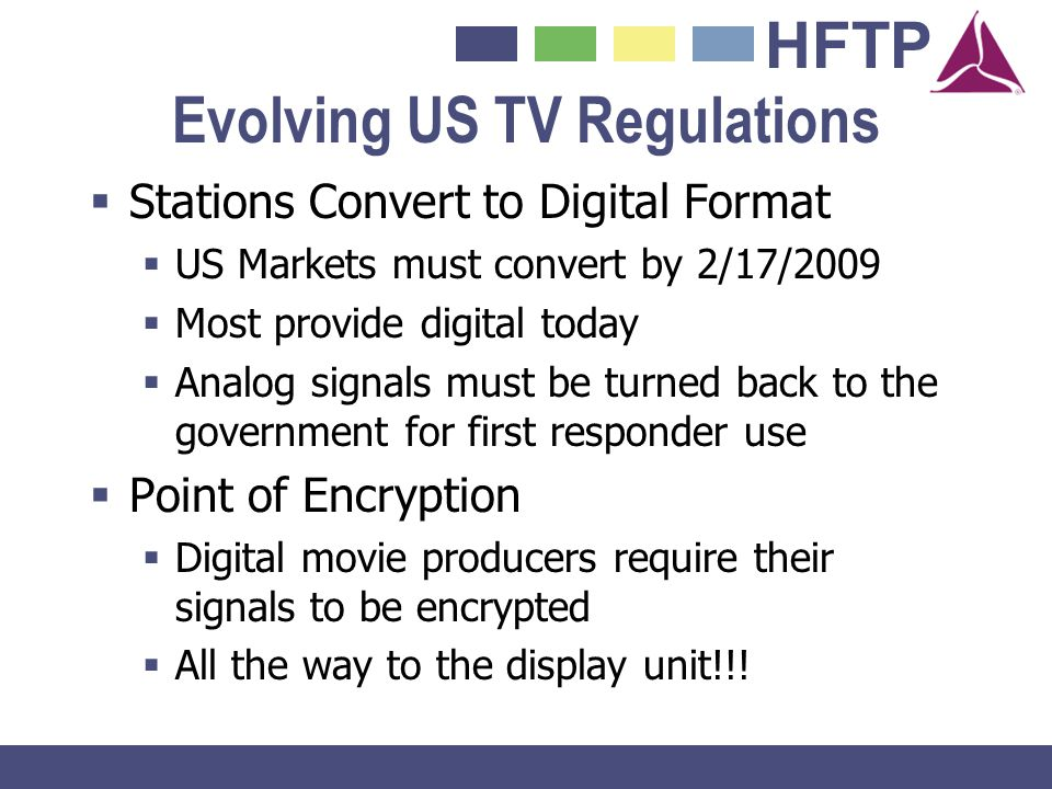 Evolving US TV Regulations