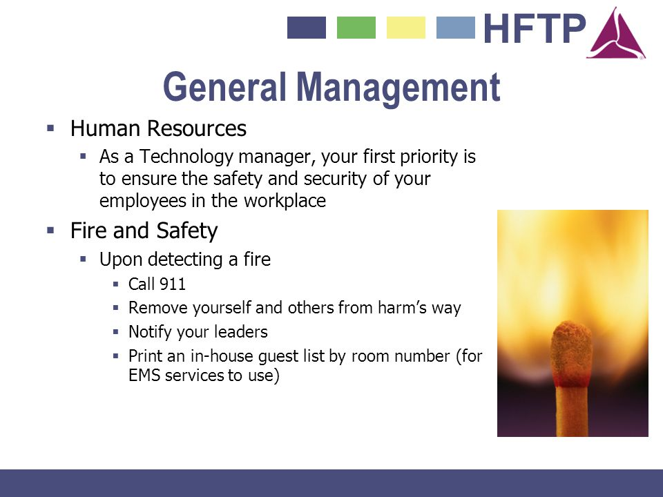 General Management Human Resources Fire and Safety