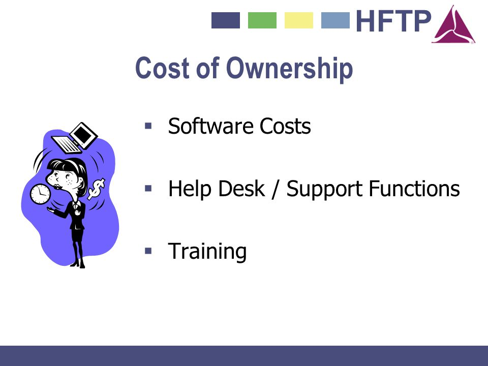 Cost of Ownership Software Costs Help Desk / Support Functions