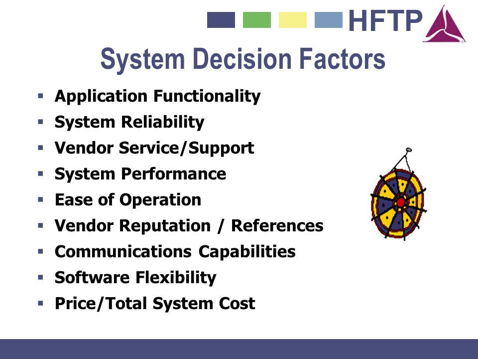 System Decision Factors