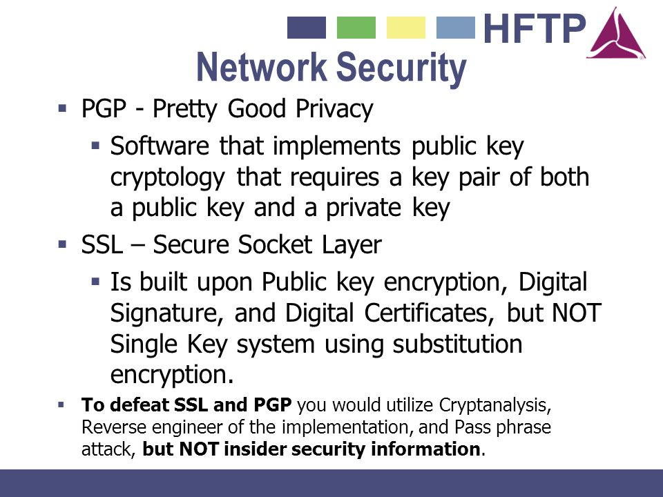 Network Security PGP - Pretty Good Privacy