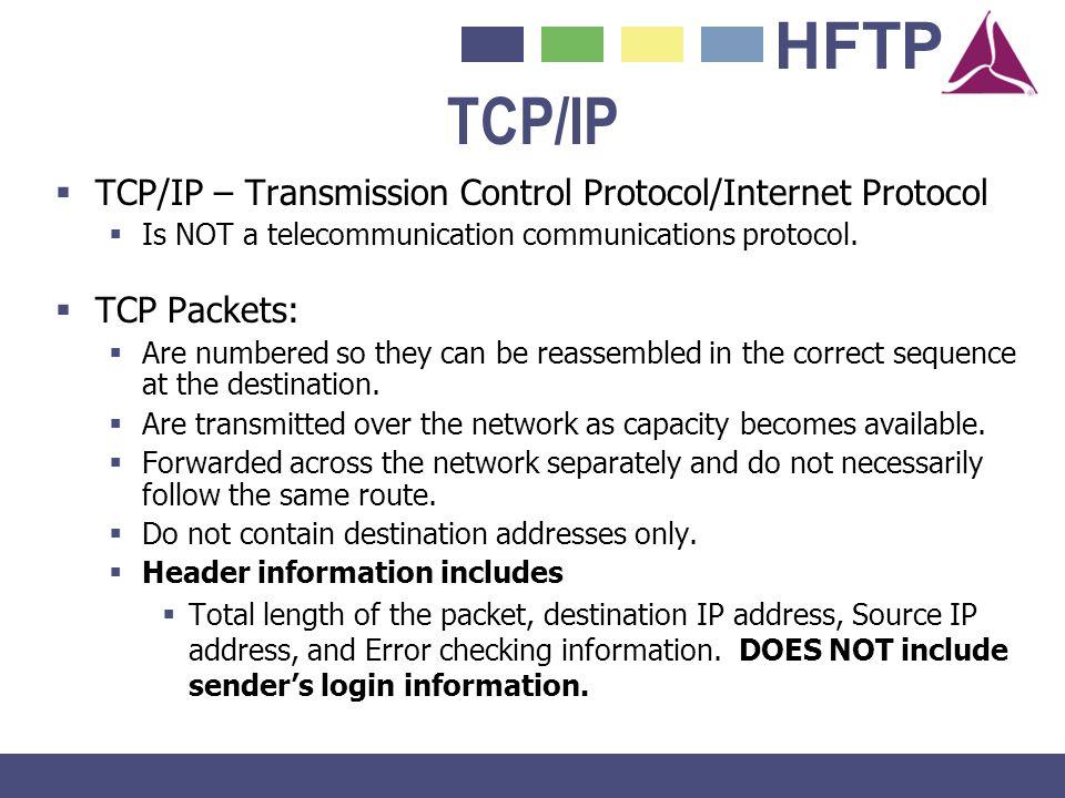 TCP/IP TCP/IP – Transmission Control Protocol/Internet Protocol