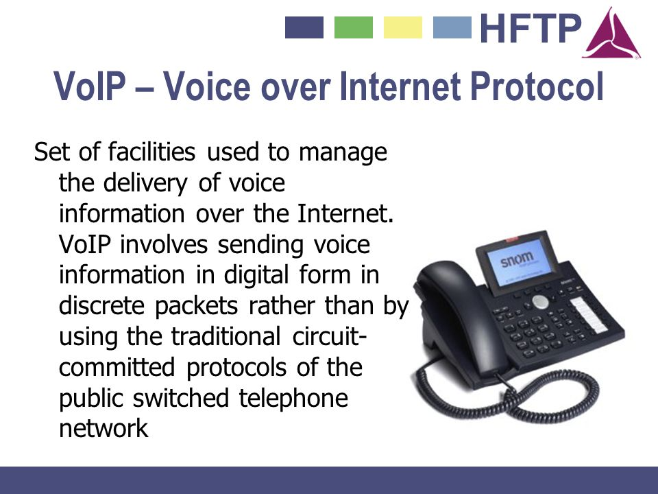 VoIP – Voice over Internet Protocol