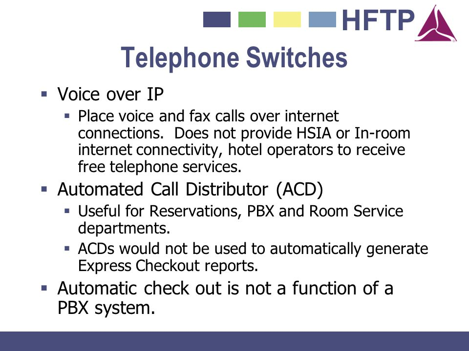 Telephone Switches Voice over IP Automated Call Distributor (ACD)