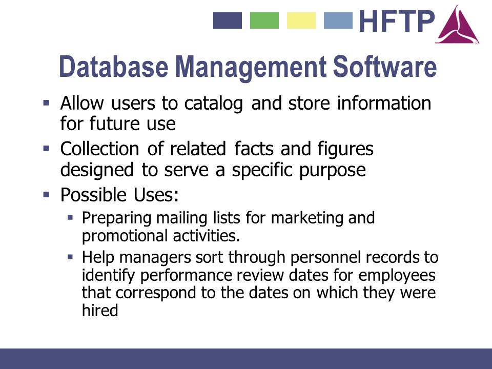 Database Management Software