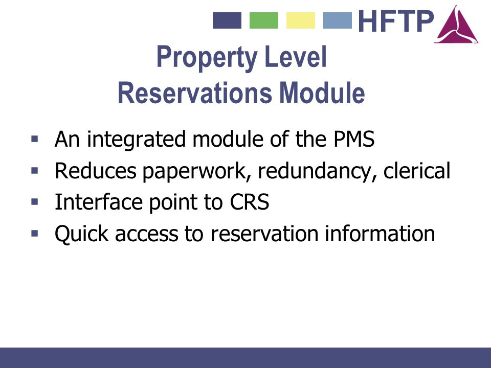 Property Level Reservations Module