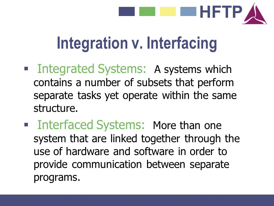 Integration v. Interfacing