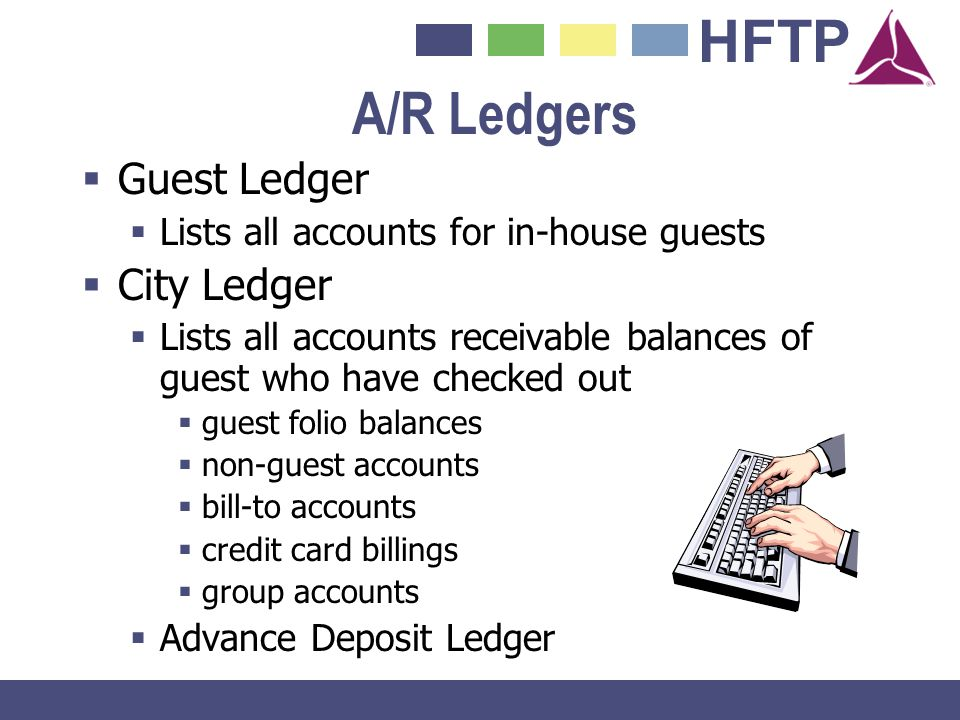 A/R Ledgers Guest Ledger City Ledger