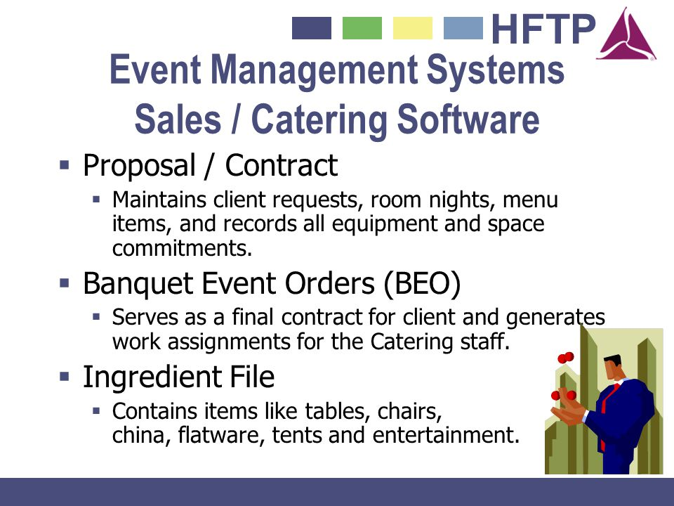 Event Management Systems Sales / Catering Software
