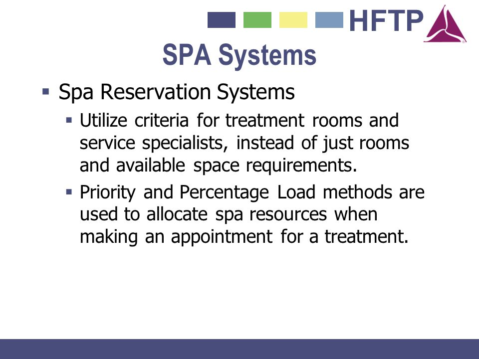 SPA Systems Spa Reservation Systems