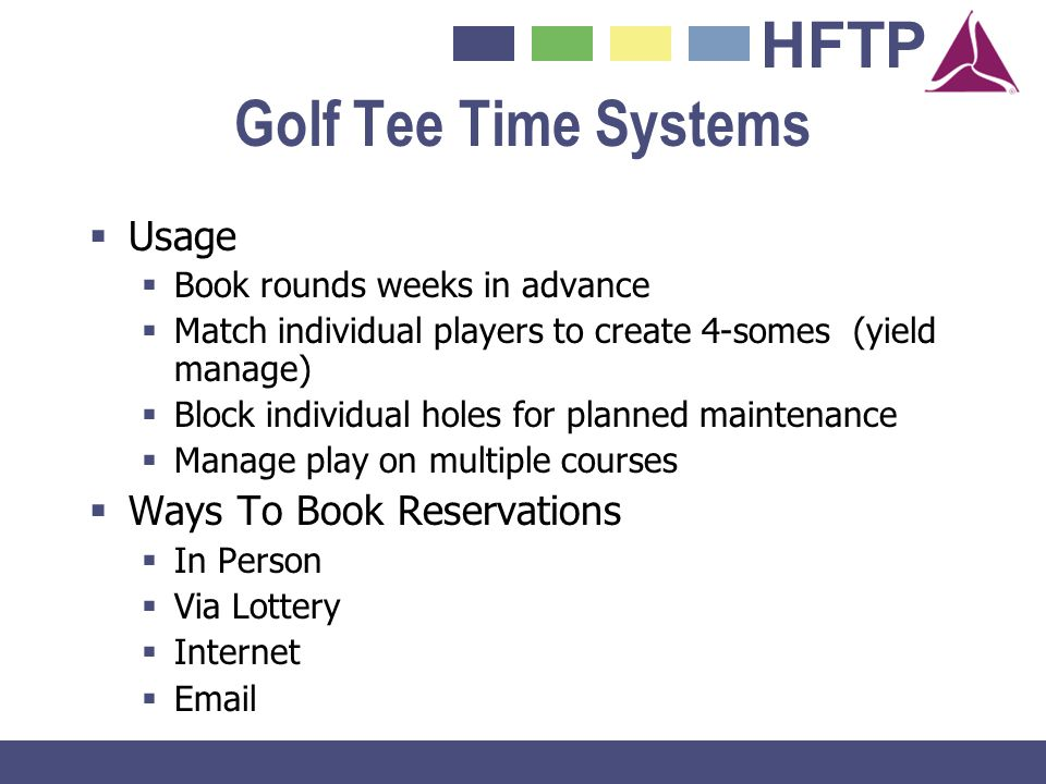 Golf Tee Time Systems Usage Ways To Book Reservations