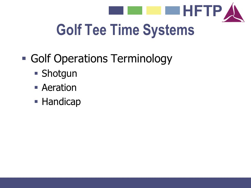 Golf Tee Time Systems Golf Operations Terminology Shotgun Aeration