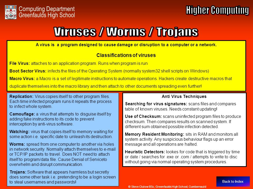Viruses / Worms / Trojans