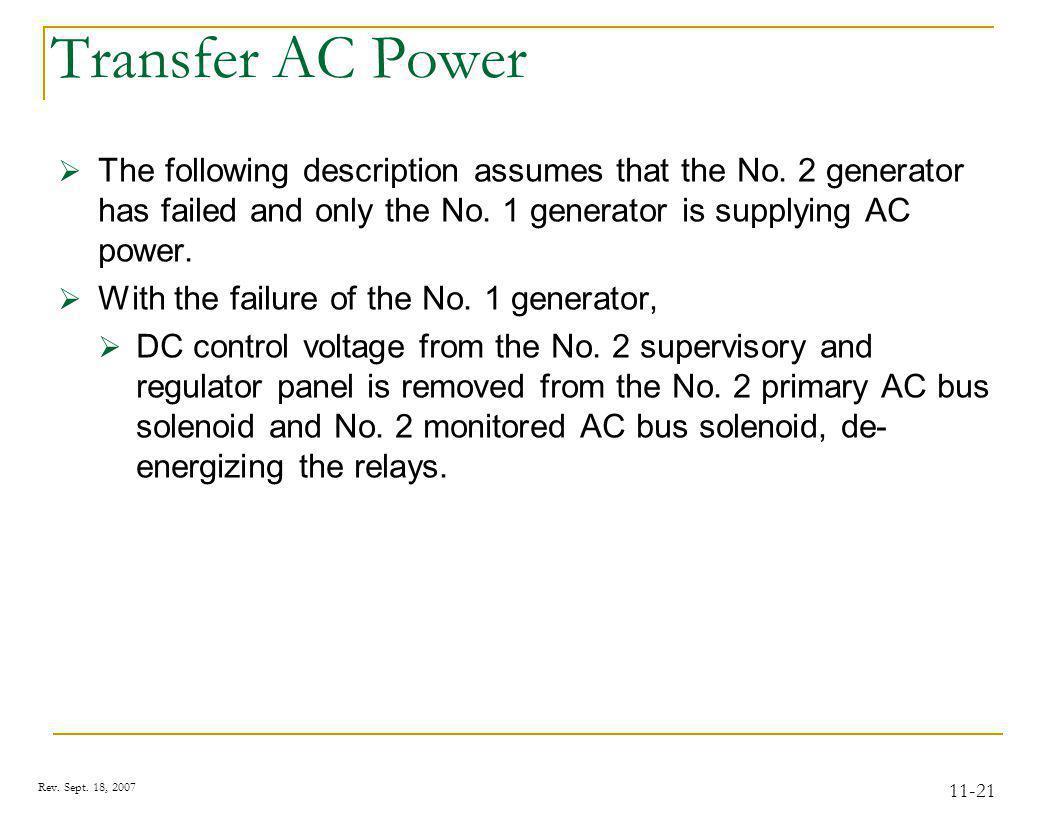 20 KVA Generators #2 #1 Rev. Sept. 18, 2007 11-